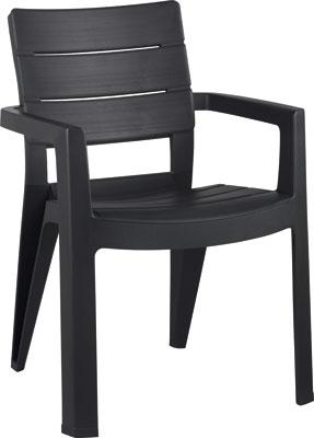 Стул Allibert Ibiza серый комплект мебели allibert corona set with cushion box капучино 17198017