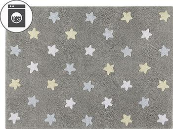 Ковер Lorena Canals Триколор Звезды Stars Tricolor (серо-голубой) 120*160 C-ST-B lumo stars мягкая игрушка lumo stars волк woody 15 см серо зелёный