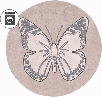 Ковер Lorena Canals Бабочка винтажный бежевый 160 D C-BUT-N