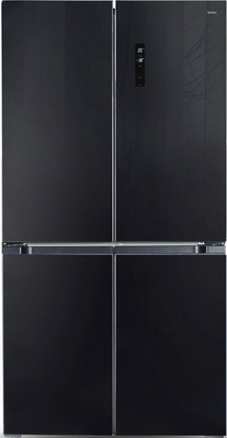 Многокамерный холодильник Ginzzu NFK-575 черный холодильник ginzzu nfk 510 gold glass
