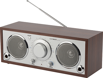 лучшая цена Радиоприемник First FA-1907-1 Silver/wood