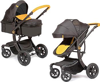 Коляска Giovanni 2в1 G-Moov цвет Black/Yellow (Черный/Желтый) GS 9600-76 цена