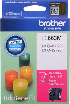 цена Картридж Brother LC 663 M пурпурный онлайн в 2017 году