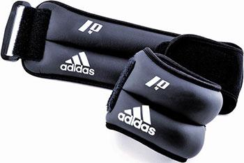 Утяжелители на запястья/лодыжки Adidas (2 шт. х 1кг) (пара) ADWT-12228 утяжелители starfit wt 401 цвет красный 1 кг 2 шт