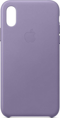 Чехол (клип-кейс) Apple Leather Case для iPhone XS цвет (Lilac) лиловый MVFR2ZM/A клип кейс guess kaia для apple iphone xs черный