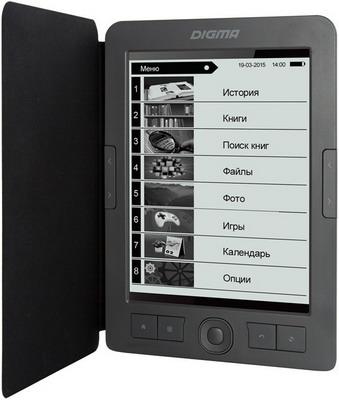 лучшая цена Электронная книга Digma E656 темно-серый
