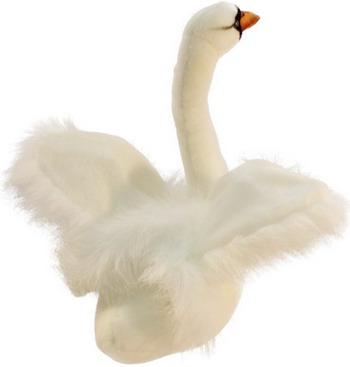 Мягкая игрушка Hansa Creation Белый лебедь 2983 мягкая игрушка лебедь hansa 4084 искусственный мех черный 45 см