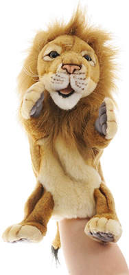 Мягкая игрушка Hansa Creation Лев на руку 4041