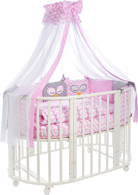 цена Комплект постельного белья Sweet Baby 424 475 Civetta Rosa (Розовый) 10 пр онлайн в 2017 году