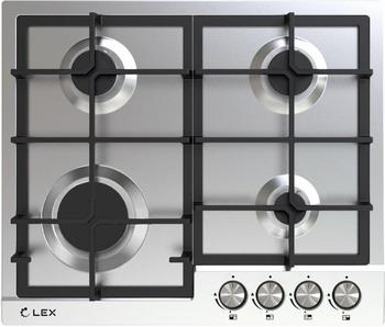 Встраиваемая газовая варочная панель Lex GVS 642 IX газовая варочная поверхность lex gvs 321 ix