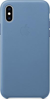 Чехол для мобильных телефонов Apple Leather Case для iPhone XS цвет (Cornflower) синие сумерки MVFP2ZM/A