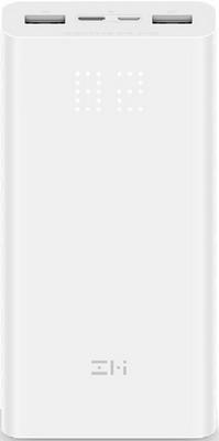 Внешний аккумулятор Xiaomi ZMI Aura (QB821 White) 20000 mAh (18W) Micro USB/Type-C Quick Charge 3.0 белый кабель type c lighting xiaomi zmi 100см al870 белый