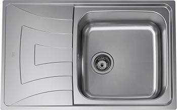 Кухонная мойка Teka UNIVERSO MAX 79 1B 1D REV реверсивная полированная с сифоном 115120004 фото