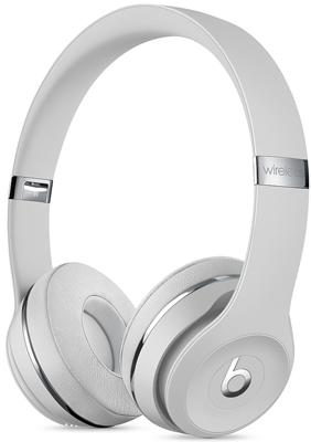 Беспроводные мониторные наушники Beats Solo3 Wireless Headphones - Satin Silver MX452EE/A фото