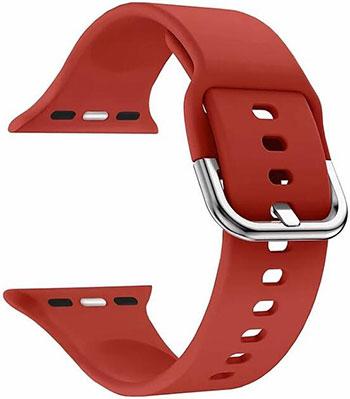 Силиконовый ремешок Lyambda для Apple Watch 38/40 mm AVIOR DSJ-17-40-RD Red ремешок для часов lyambda для apple watch 38 40 mm polis dsn 02 02a 40 rd red