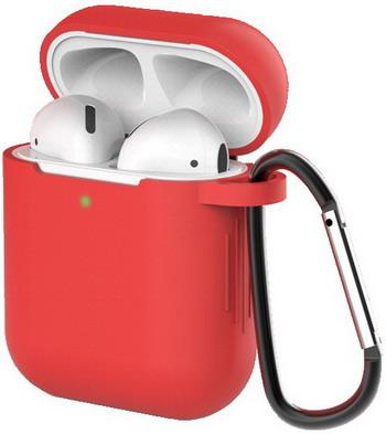 Фото - Чехол для наушников Eva для Apple AirPods 1/2 с карабином - Красный (CBAP40R) сифон для душевого поддона unicorn easyopen с латунным выпуском 1 1 2 d40 с отводом g311e