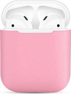 Фото - Чехол силиконовый Eva для наушников Apple AirPods 1/2 - Розовый/Белый (CBAP03PW) браслет розовый кварц 17 см биж сплав