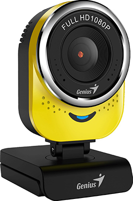 Фото - Web-камера для компьютеров Genius QCam 6000 yellow Full-HD 1080p USB (32200002403) веб камера web microsoft lifecam studio usb for business 5wh 00002 черный