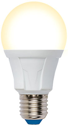 Лампа Uniel LED-A60-10W/3000K/E27/FR/DIM PLP01WH