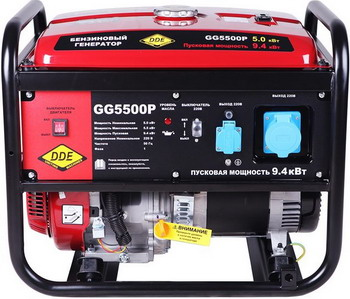Электрический генератор и электростанция DDE GG 5500 P электрический генератор и электростанция dde ddg 6000 3e