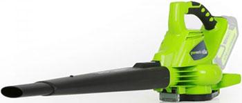 Воздуходувка Greenworks 0V G-max GD 40 BV без аккумулятора и зарядного устройств 24227 аккумуляторный кусторез greenworks 80 v digi pro gd 80 ht без аккумулятора и зарядного устройства 2200607
