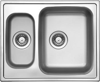 Кухонная мойка Florentina ПРОФИ 615.500.1K.08 нержавеющая сталь декорированная (чаша справа) кухонная мойка florentina профи 780 500 1k 08 нержавеющая сталь матовая чаша слева