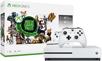 Игровая приставка Microsoft Xbox One S 1 ТБ + игровой абонемент на 3 месяца + Xbox LIVE: карта подписки 3 месяца (234-00357) электронная версия для xbox microsoft золотой статус xbox live gold 12 месяцев
