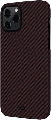 Чеxол (клип-кейс) Pitaka для iPhone 12 PRO Max красно-черный (KI1203PM)