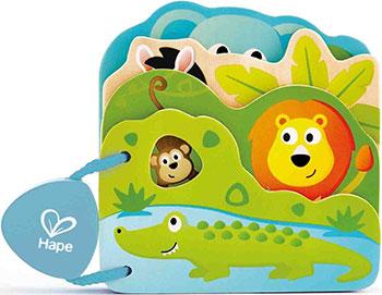 Игрушка Детская книга Hape E0047_HP Дикие животные