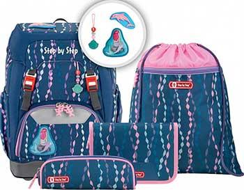 Ранец Step By Step Grade Mermaid темно-синий/розовый 4 предмета недорого