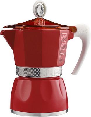 цена Гейзерная кофеварка G.A.T 103803 BELLA 3 чашки красная онлайн в 2017 году