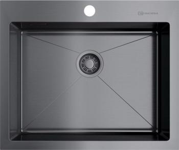 Кухонная мойка Omoikiri AKISAME 59-GM вороненая сталь (4973096)