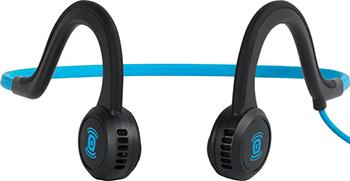 лучшая цена Проводные наушники Aftershokz Sportz Titanium с микрофоном цвет синий