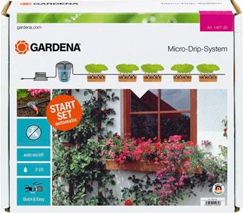 Набор для полива Gardena Система микрокапельного полива горшечных растений 01407-20 система для полива gardena comfort flex 18040 20