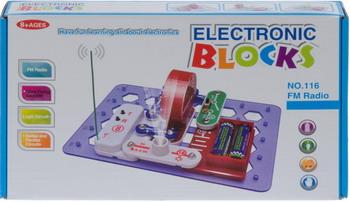 Набор Electronic Blocks FM радио YJ 188170491 1CSC 20003431 электронный конструктор electronic blocks лампочка yj 188171445 1csc 20003424