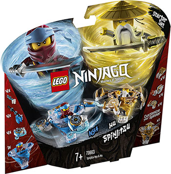 цены Конструктор Lego Ния и Ву: мастера Кружитцу 70663 Ninjago Masters of Spinjitzu