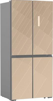 Многокамерный холодильник Ginzzu NFK-575 шампань холодильник ginzzu nfk 510 gold glass