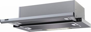 Вытяжка Krona Steel Kamilla slim 600 inox/inox (2 мотора) встраиваемая вытяжка krona steel kamilla sensor 600 white glass 2 мотора