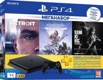 Игровая приставка Sony PlayStation 4 1TB Black + DETROIT/Horizon ZERO DAWN/Один из нас (CUH-2208 B) камера для sony playstation 4 cuh zey2