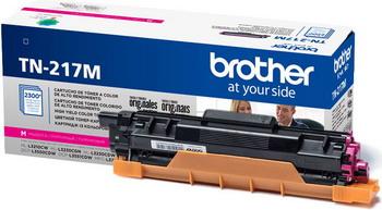 Тонер-картридж Brother TN 217 M пурпурный картридж для принтера brother tn 1075