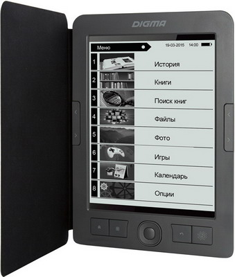 лучшая цена Электронная книга Digma R656 темно-серый