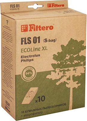 Набор пылесборников Filtero FLS 01 (S-bag) ECOLine XL 10 шт. цена 2017