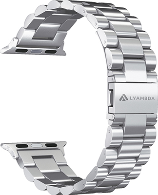 Фото - Ремешок для часов Lyambda из нержавеющей стали для Apple Watch 38/40 mm KEID DS-APG-02-40-SL Silver смотреть ремешок ремешок весна бар ссылка pin remover ремонт инструмента из нержавеющей стали