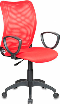 Кресло Бюрократ CH-599/R/TW-97N красный кресло buro ch 599 r tw 97n спинка сетка красный tw 35n сиденье красный tw 97n
