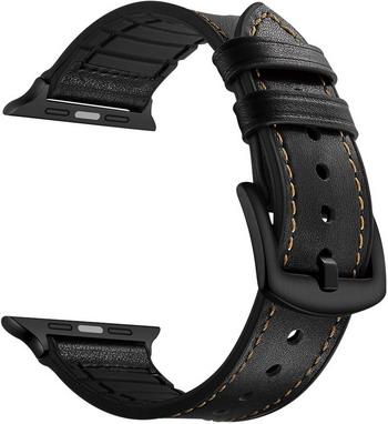 Ремешок для часов Lyambda кожа/силикон Apple Watch 42/44 mm ANTARES LWA-10-44-BK Black