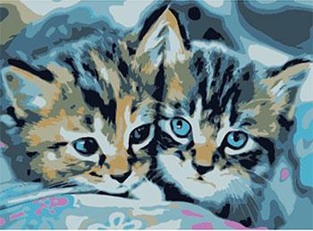 Картина по номерам Рыжий кот 22х30 см по номерам. ''Милые котята''. HS039 картина по номерам рыжий кот 22х30 см по номерам живописное место hs146