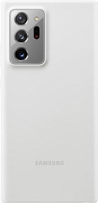 Чехол (клип-кейс) Samsung Galaxy Note 20 Ultra Silicone Cover белый (EF-PN985TWEGRU) платье oodji ultra цвет красный белый 14001071 13 46148 4512s размер xs 42 170