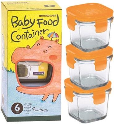 Набор детских контейнеров Glasslock GL-615/O оранжевый