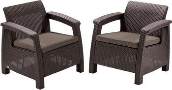 Комплект мебели Allibert Corfu duo set коричневый 17197993