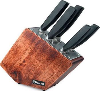 Набор ножей + подставка Rondell Lincor 6 пр RD-482 rondell набор кухонных ножей espada 6 пр на магнитном держателе rd 324 rondell